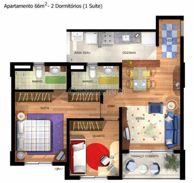 66m2 com suíte - Fachada - East Side Condominium Club - 20 - 3