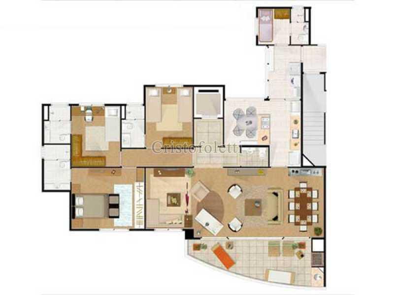 Planta apartamento tipo - Fachada - Condomínio Edifício The Symbol Perdizes - 44 - 1