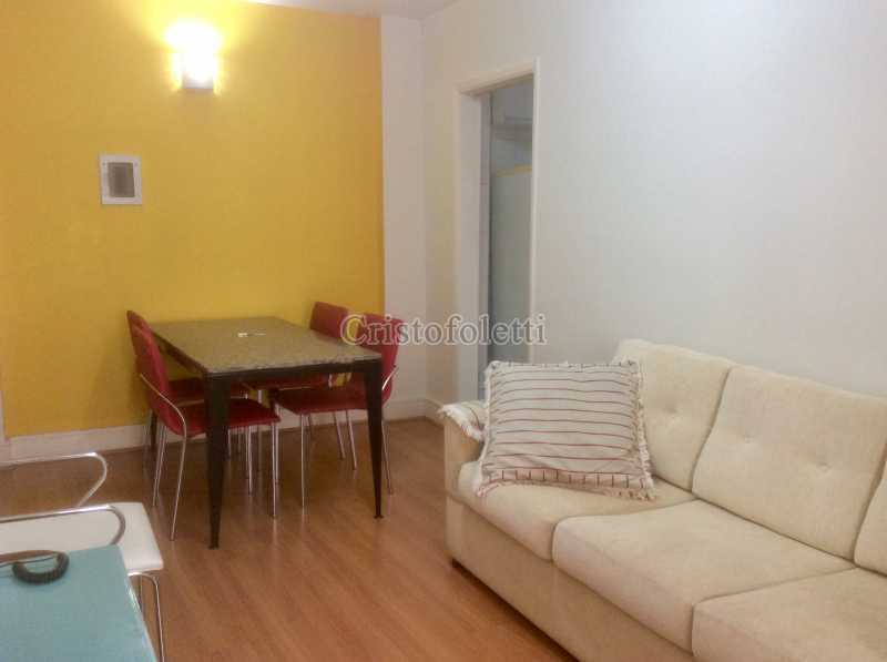Sala 2 ambientes - Apartamento mobiliado 2 dormitórios na Aclimação - ISLO0050 - 3