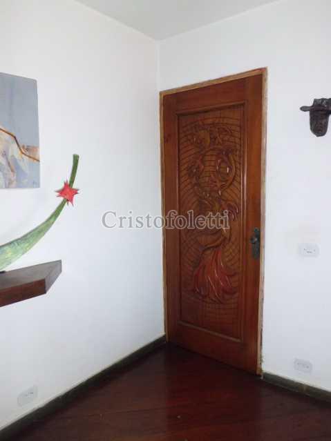 Porta em madeira entalhada - Apartamento duplex com salão e vista privilegiada ao lado do metrô e centro de convenções imigrantes - ISLO0056 - 5