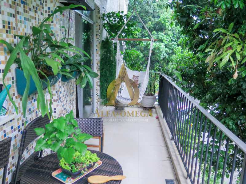 2 - Apartamento à venda Rua Ituverava,Anil, Rio de Janeiro - R$ 390.000 - AOJ40007 - 3