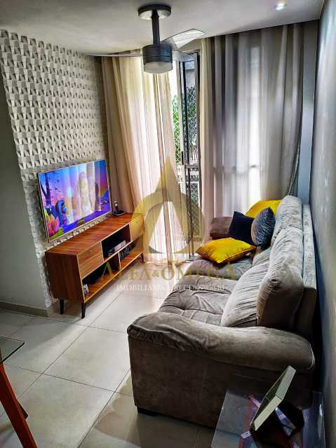 12 - Apartamento Estrada da Boiuna,Taquara, Rio de Janeiro, RJ À Venda, 2 Quartos, 50m² - AOJ20162 - 3