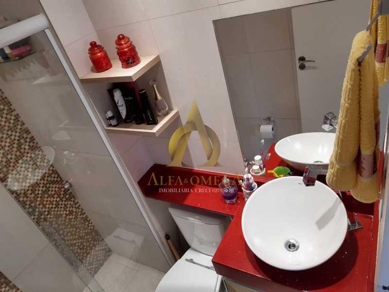 2 - Apartamento à venda Rua Baronesa,Praça Seca, Rio de Janeiro - R$ 175.000 - AOJ20247 - 12