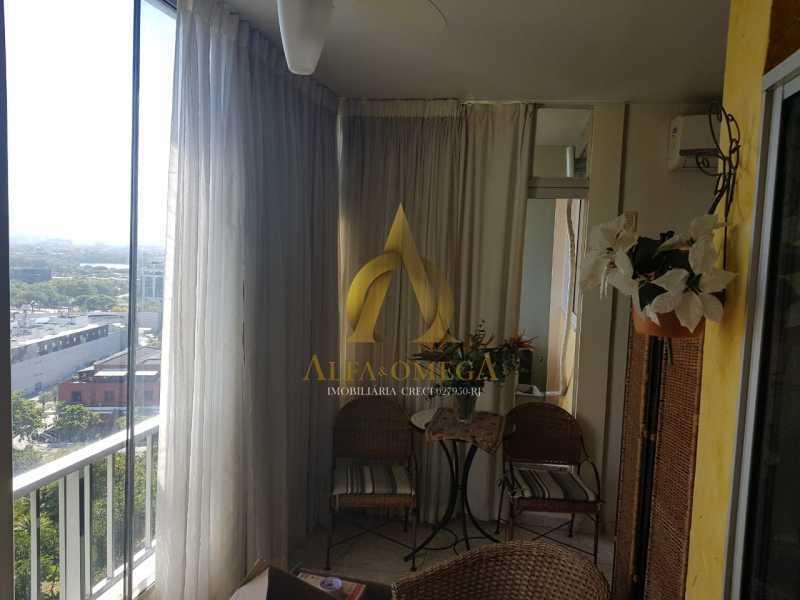1 - Apartamento 1 quarto à venda Barra da Tijuca, Rio de Janeiro - R$ 680.000 - AO10265 - 3