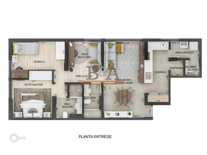 desktop_floorplan - Apartamento 2 quartos à venda Leblon, Rio de Janeiro - R$ 2.060.000 - COAP20423 - 10