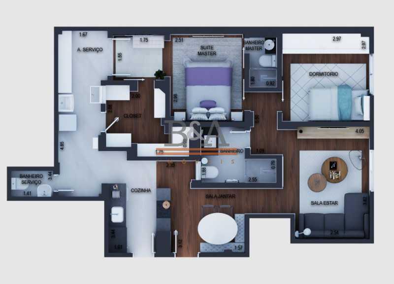 desktop_floorplan - Apartamento 2 quartos à venda Leblon, Rio de Janeiro - R$ 1.740.000 - COAP20432 - 23