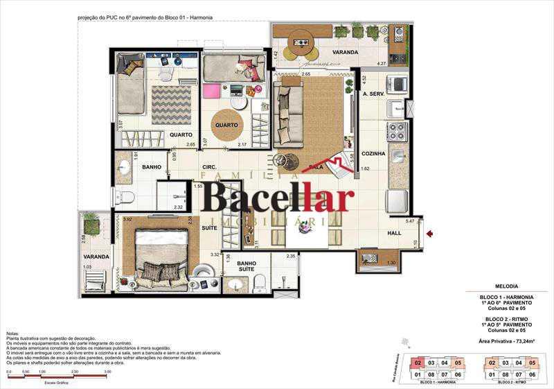 Imagem - Imóvel Apartamento À VENDA, Campinho, Rio de Janeiro, RJ - TIAP31329 - 26