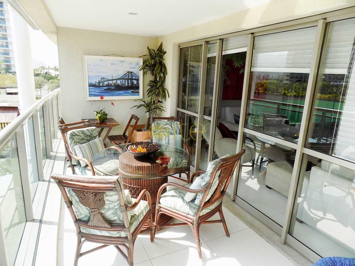 4 varanda f.1 - Apartamento no condomínio À Venda - Condomínio Santa Monica Jardins Club - Barra da Tijuca - Rio de Janeiro - RJ - 40199 - 3