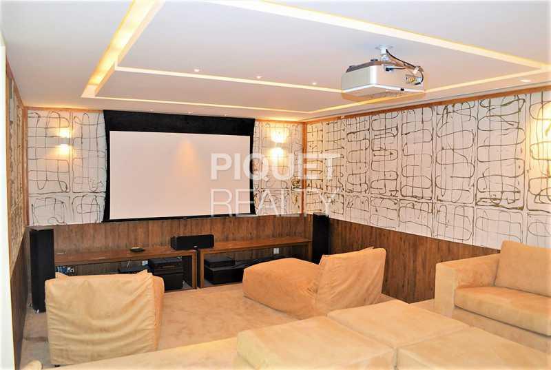 SALA DE TV - Casa em Condomínio 5 quartos à venda Rio de Janeiro,RJ - R$ 42.000.000 - 00080CA - 14