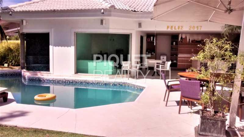 PISCINA - Casa em Condomínio 5 quartos à venda Rio de Janeiro,RJ - R$ 4.490.000 - 00033CA - 4