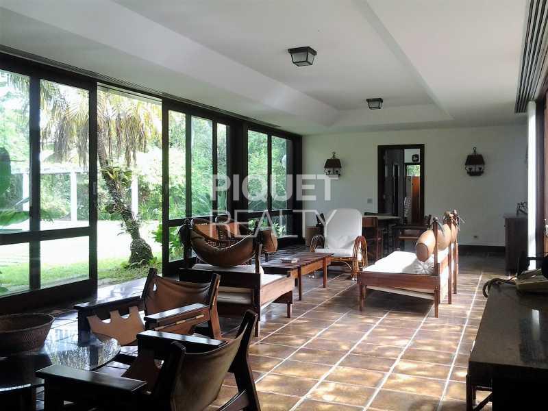 LIVING - Casa em Condomínio 5 quartos à venda Rio de Janeiro,RJ - R$ 7.999.000 - 00046CA - 1