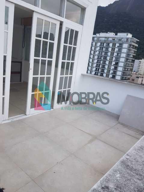 varanda 3º andar - IMOBRASRJ VENDE!! Maravilhosa cobertura triplex na lagoa com 2 vagas escrituradas - BOCO30044 - 9