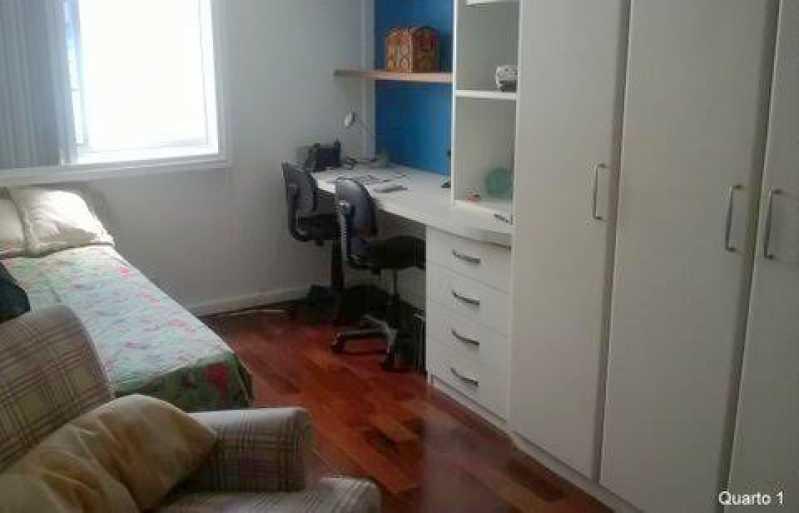 Quarto 1. - Apartamento À VENDA, Gávea, Rio de Janeiro, RJ - CPAP30133 - 14