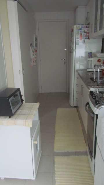 Cozinha porta serviço - Apartamento 3 quartos Barra da Tijuca - BOAP30093 - 10