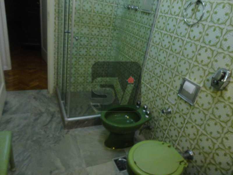 Banheiro social - Mobiliado. Amplo. Copacabana. 3 Quartos - SVAP30010 - 5