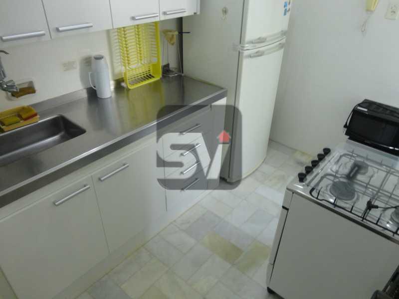 Cozinha - Mobiliado. Amplo. Copacabana. 3 Quartos - SVAP30010 - 9
