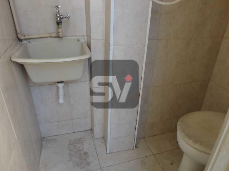 Banheiro de serviço - Apartamento Para Alugar - Rio de Janeiro - RJ - Botafogo - SVAP10011 - 12