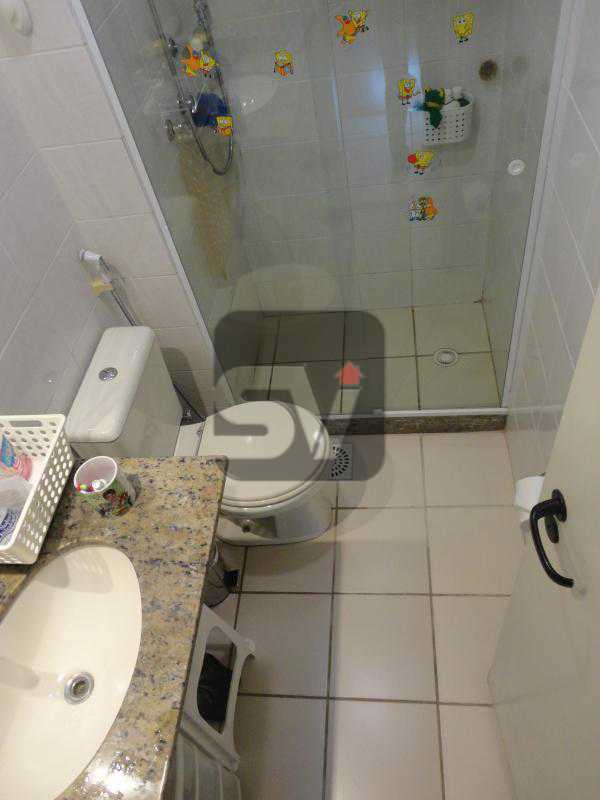 Banheiro social - Botafogo. Vaga. Infraestrutura. Vista Verde. Silencioso. Reformado. 2 quartos (1 suíte) - SVAP20022 - 5