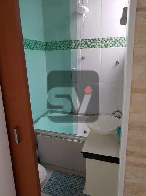 Banheiro social - Mobiliado. Reformado. Copacabana. Conjugado - SVKI00016 - 6