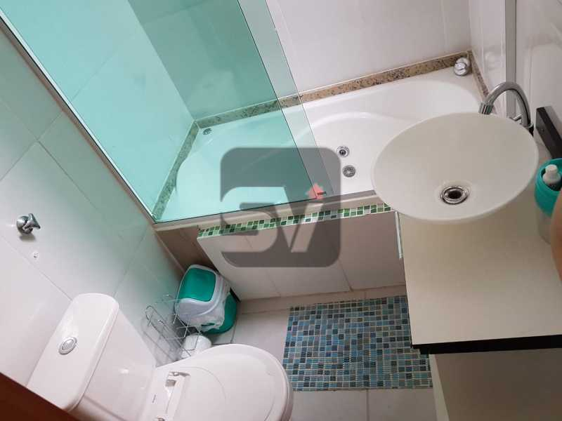 Banheiro social - Mobiliado. Reformado. Copacabana. Conjugado - SVKI00016 - 7
