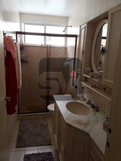 Banheiro social - Copacabana rua nobre, 2 quartos, 115 metros, 3 vagas, varandão, imperdível - SVAP20028 - 7