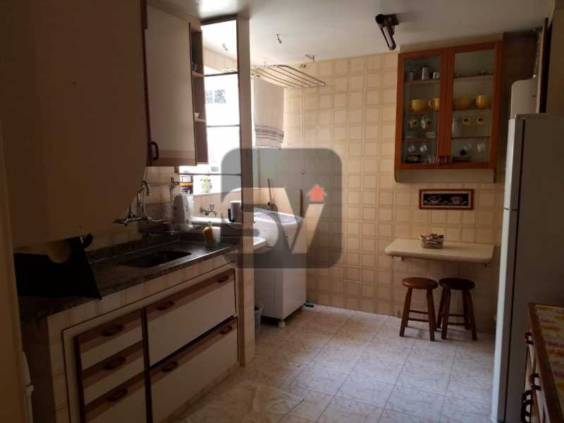 Cozinha - Copacabana rua nobre, 2 quartos, 115 metros, 3 vagas, varandão, imperdível - SVAP20028 - 13