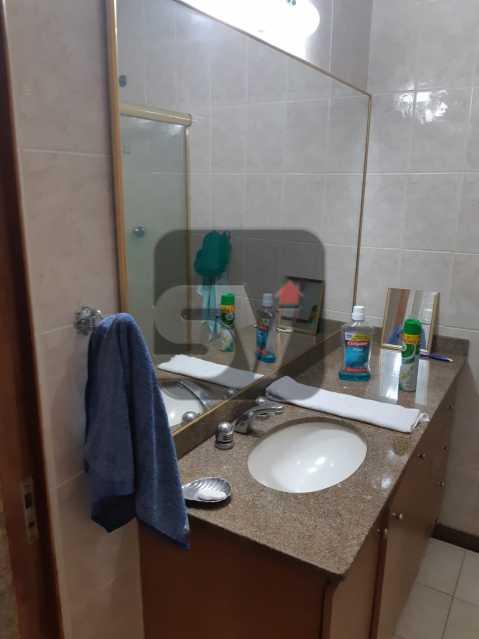 Banheiro Social - Apartamento mobiliado de 3 quartos, esquina com Av. Atlântica - SVAP30025 - 8