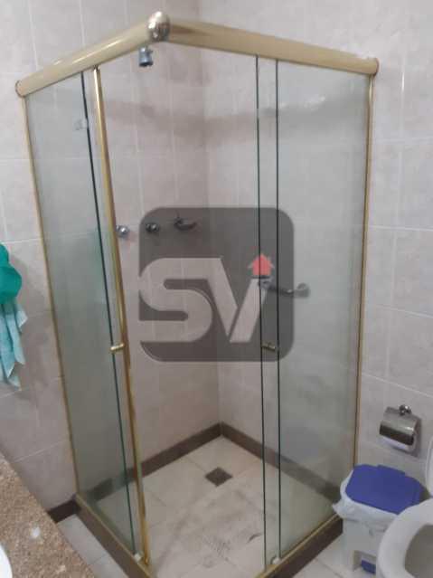 Banheiro Social - Apartamento mobiliado de 3 quartos, esquina com Av. Atlântica - SVAP30025 - 9