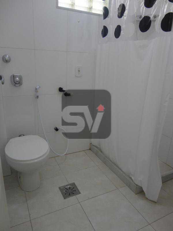 Banheiro  - Flamengo. Andar alto. Semi Mobiliado. 1 Quarto. Vaga - SVAP10032 - 9