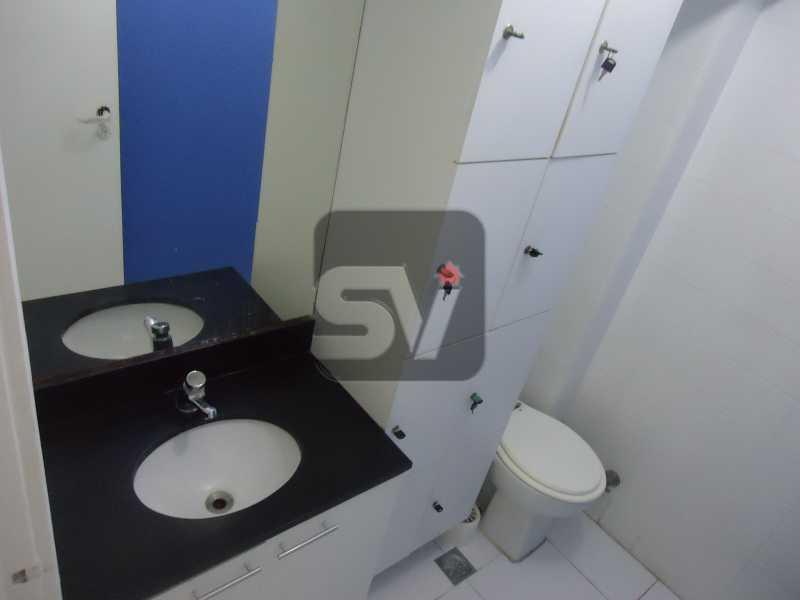 Banheiro social - Sala Comercial Rio de Janeiro, zona sul,Copacabana, RJ Para Alugar, 40m² - SVSL00005 - 9
