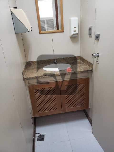 Banheiro - Centro. 4 salas. Recepção. Ar central. Copa e banheiro - SVSL00009 - 17