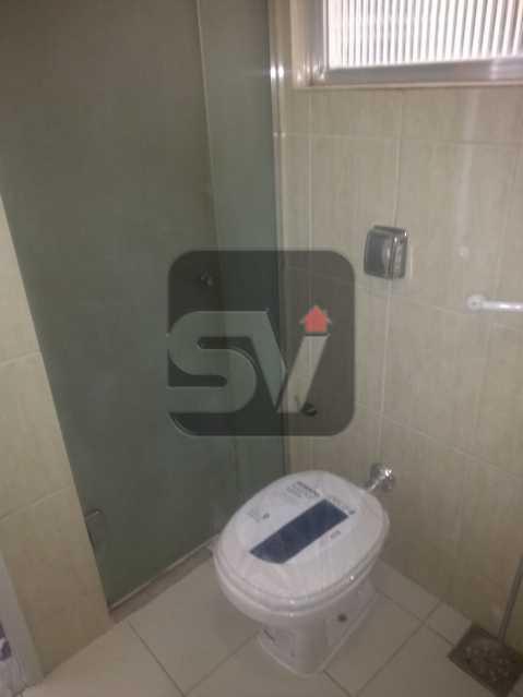 Banheiro social - 2 quartos com dependência revertida para 3º quarto (suíte). Humaitá. Vista Livre.Vaga - SVAP20061 - 5