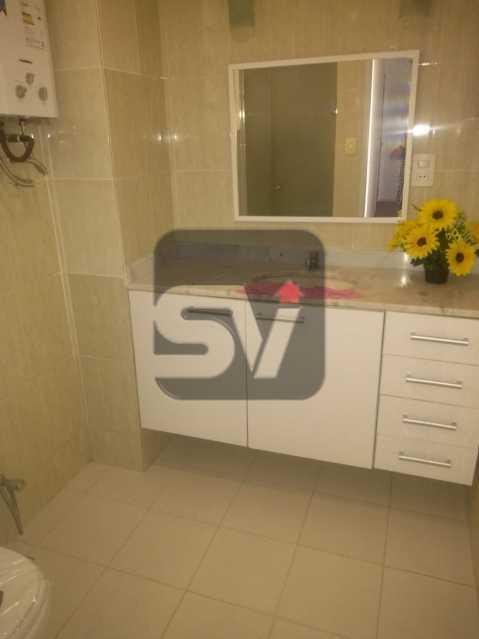 Banheiro social - 2 quartos com dependência revertida para 3º quarto (suíte). Humaitá. Vista Livre.Vaga - SVAP20061 - 4