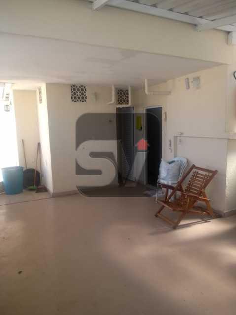 Salão de festa - 2 quartos com dependência revertida para 3º quarto (suíte). Humaitá. Vista Livre.Vaga - SVAP20061 - 13