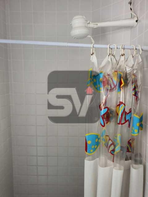 Banheiro de serviço - Vaga. Laranjeiras. 2 Quartos. - SVAP20063 - 14