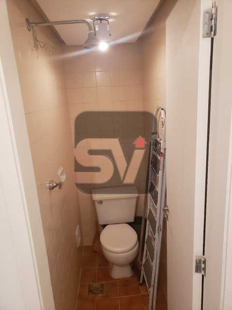 Banheiro de serviço - Silencioso. 2 Quartos. Vaga. Botafogo. Varanda - SVAP20072 - 19