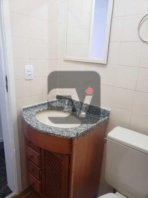 Banheiro social - Silencioso. 2 Quartos. Vaga. Botafogo. Varanda - SVAP20072 - 6