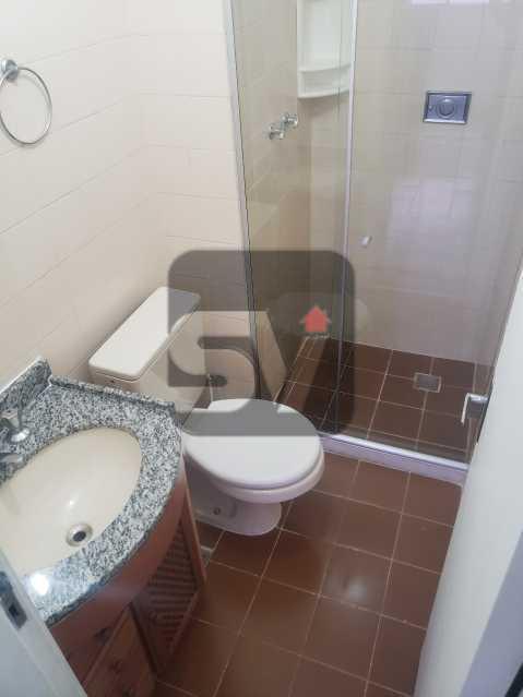 Banheiro social - Silencioso. 2 Quartos. Vaga. Botafogo. Varanda - SVAP20072 - 5