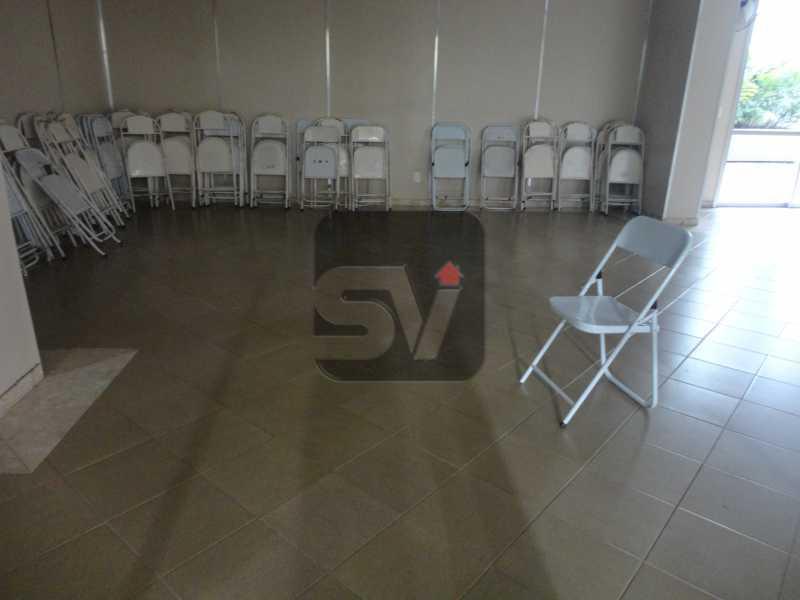 Salão de festa - Silencioso. 2 Quartos. Vaga. Botafogo. Varanda - SVAP20072 - 22