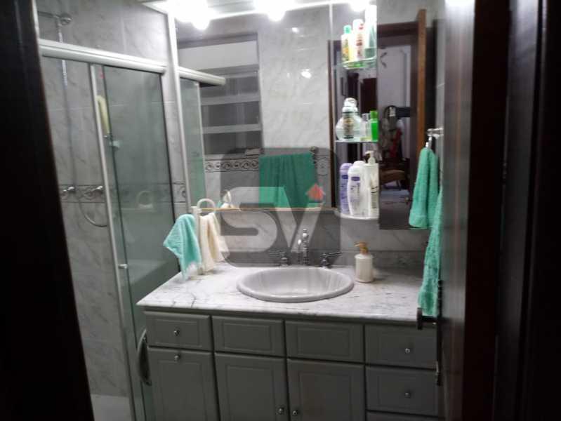 Banheiro social - 3 Quartos. Botafogo. Vaga do Condomínio. Vista Livre - SVAP30051 - 5