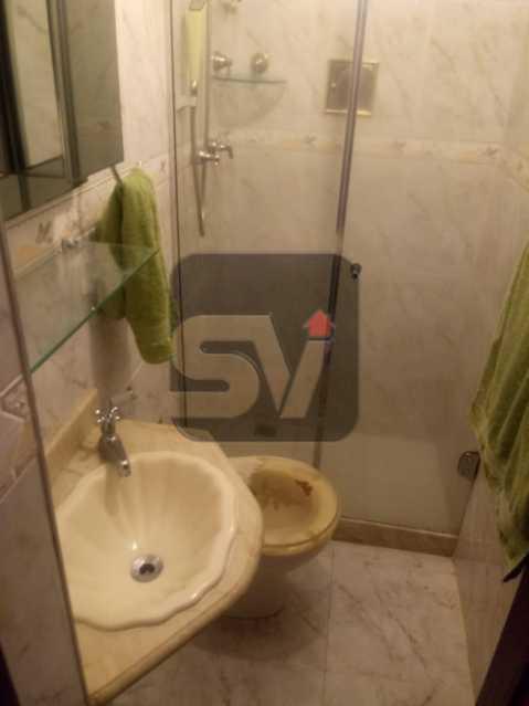 Banheiro de serviço - 3 Quartos. Botafogo. Vaga do Condomínio. Vista Livre - SVAP30051 - 12