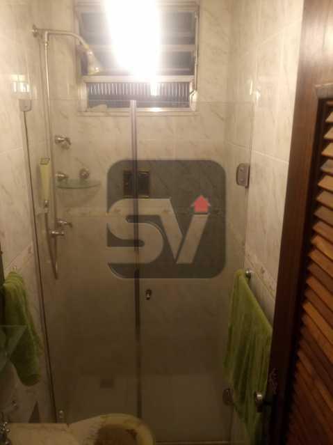 Banheiro de serviço - 3 Quartos. Botafogo. Vaga do Condomínio. Vista Livre - SVAP30051 - 13