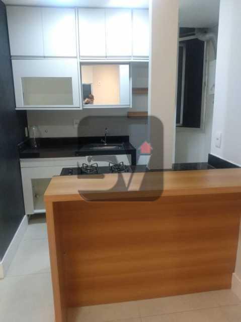 Cozinha - Apartamento MARAVILHOSO! Quarto e Sala c/ Suíte e Closet, Ótima Localização!!!! - SVAP10048 - 1