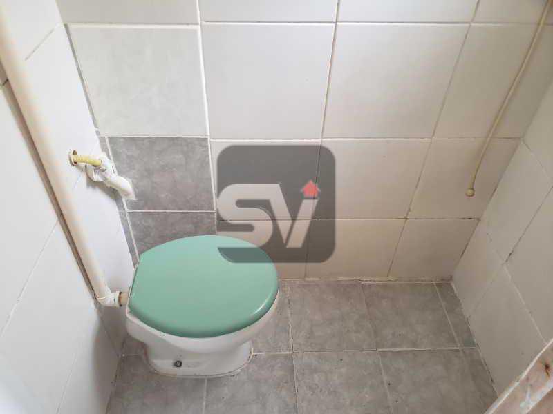 Banheiro de serviço - 2 quartos. Botafogo. Sala (2 ambientes). Varanda. Copa e cozinha - SVAP20080 - 19