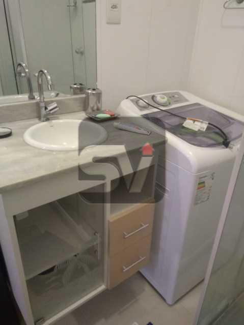 Banheiro  - ótimo conjugadão vista mar/ cristo redentor, dois ambientes e mobiliado - SVKI00027 - 15