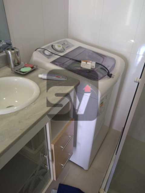 Banheiro  - ótimo conjugadão vista mar/ cristo redentor, dois ambientes e mobiliado - SVKI00027 - 14