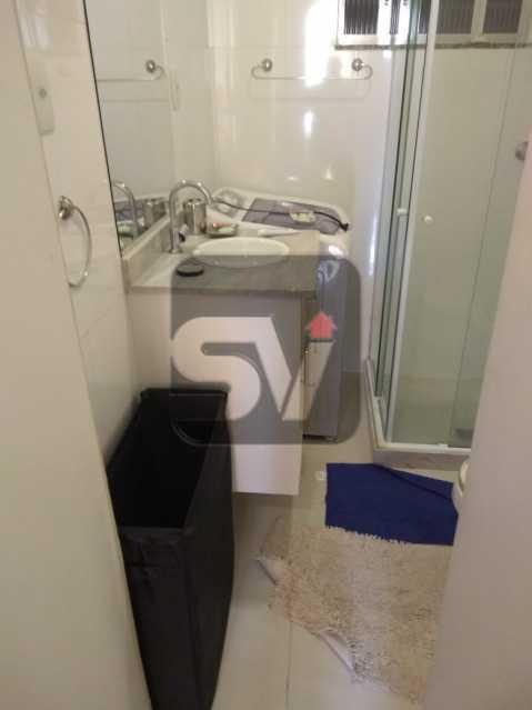 Banheiro - ótimo conjugadão vista mar/ cristo redentor, dois ambientes e mobiliado - SVKI00027 - 16
