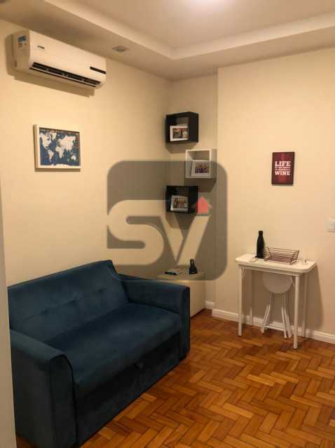 Sala - Mobiliado. Reformado. Quarto e sala. Flamengo. Fundos. Silencioso. - SVAP10053 - 3