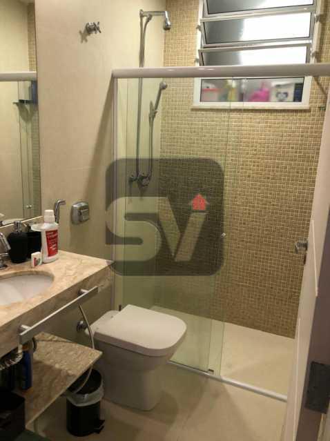 Banheiro - Mobiliado. Reformado. Quarto e sala. Flamengo. Fundos. Silencioso. - SVAP10053 - 9