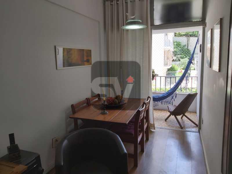 Sala - Rua nobre. Quarto e sala. 60 m². Vaga na escritura. Flamengo. Varanda - SVAP10055 - 5
